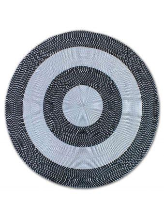 Dywan sznurkowy Mae koło - czarny