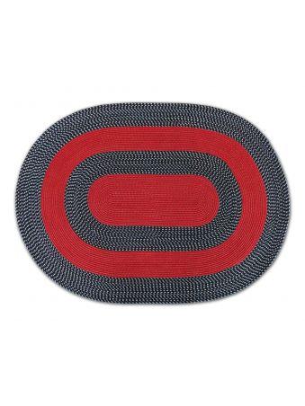 Dywan sznurkowy Mae owalny - czerwony