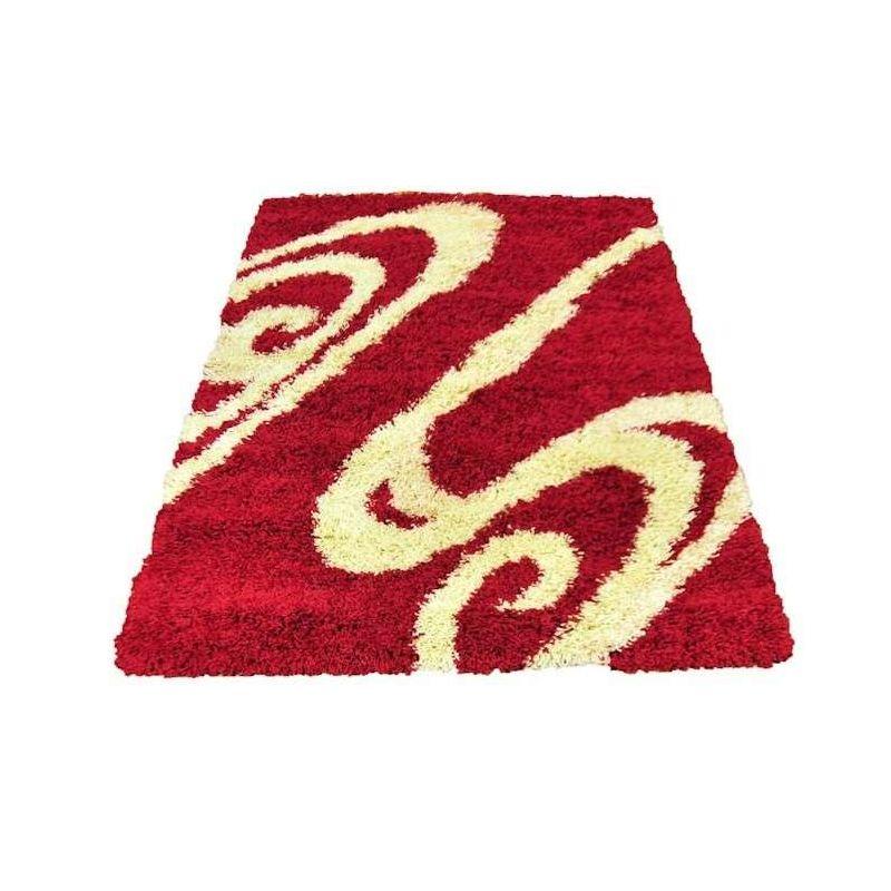 Dywan nowoczesny shaggy 05 czerwony