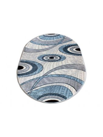 Dywan owalny Fenix 11 - niebieski