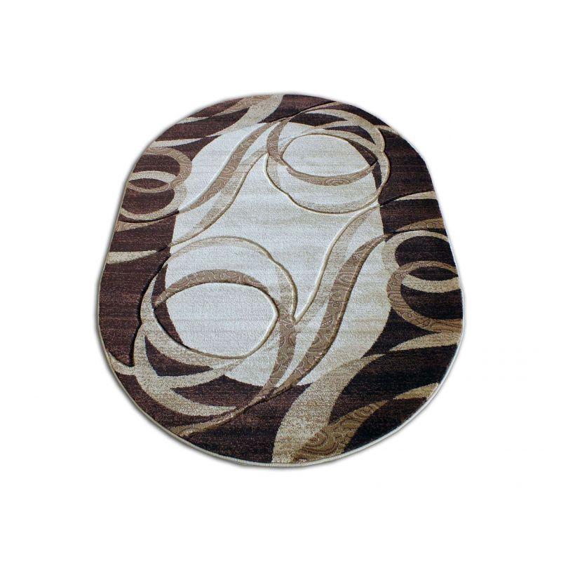 Dywan owalny Fenix 09 - brązowy