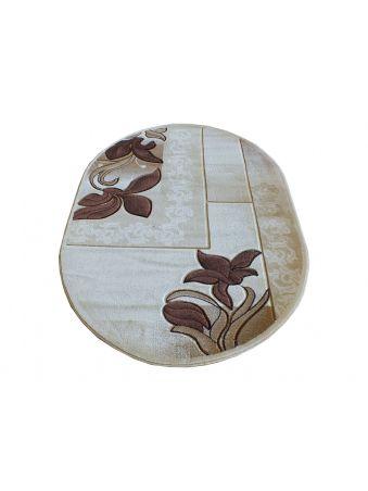 Dywan klasyczny owalny Fenix 08S - brązowy
