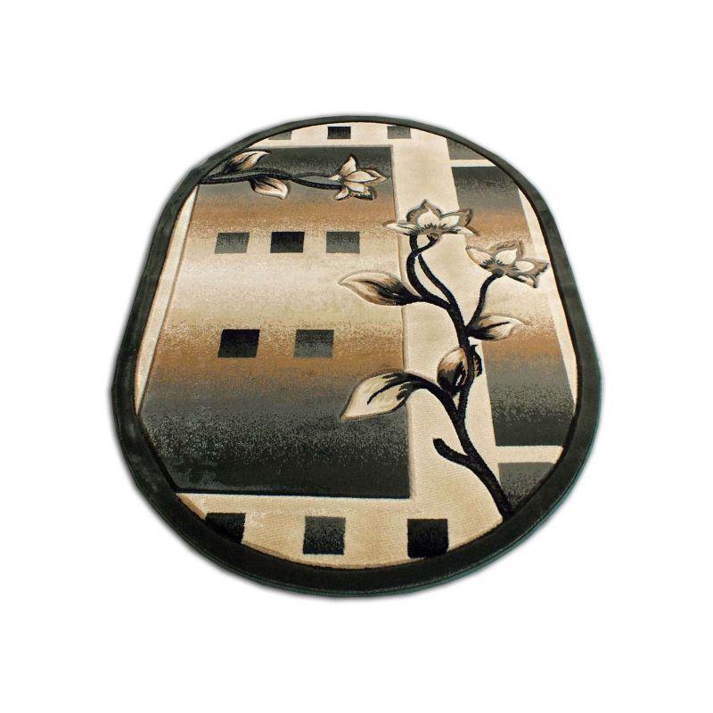 Dywan owalny Fenix 05 - brązowy