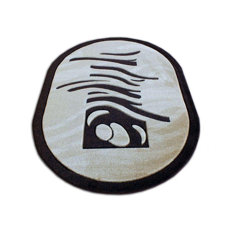 Dywan owalny Fenix 04S - brązowy