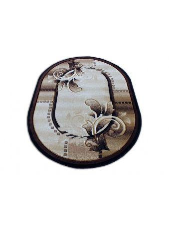 Dywan owalny Fenix 02 - brązowy
