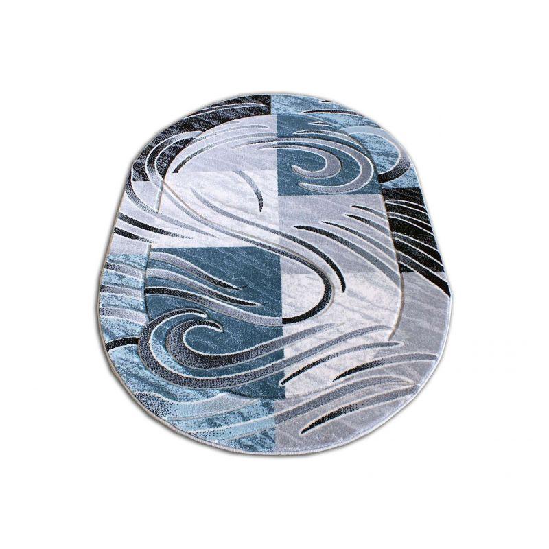 Dywan owalny Fenix 01S - niebieski