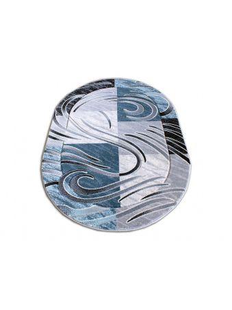 Dywan owalny Fenix 01 - niebieski
