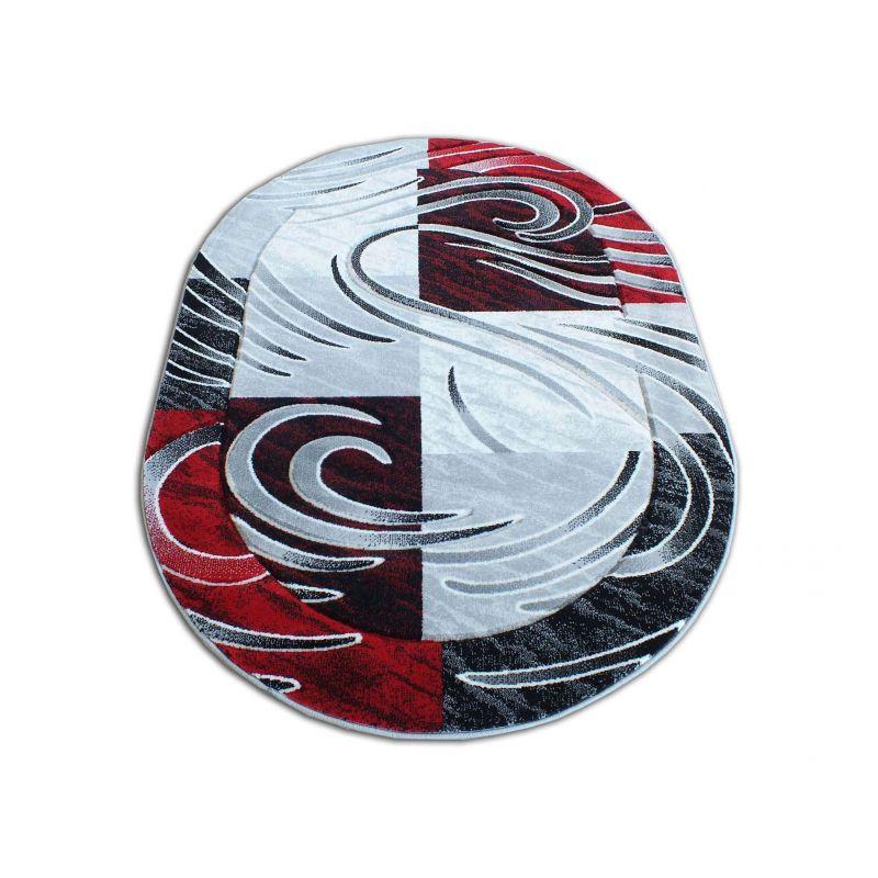 Dywan owalny Fenix 01S - czerwony