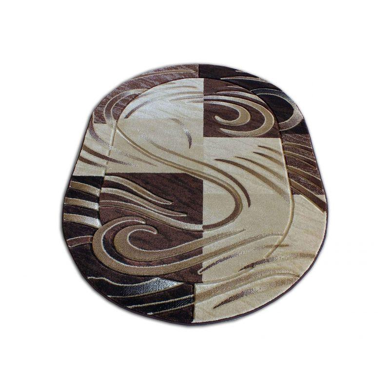 Dywan owalny Fenix 01S - brązowy
