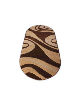Dywan owalny Fantazja 05 - brązowy