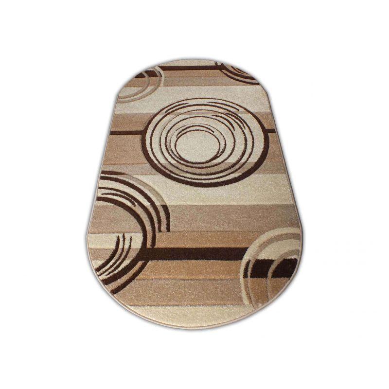 Dywan nowoczesny owalny Fantazja 02S - brązowy