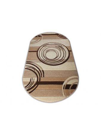 Dywan owalny Fantazja 02 - brązowy