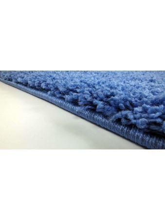Dywan shaggy jednolity - niebieski