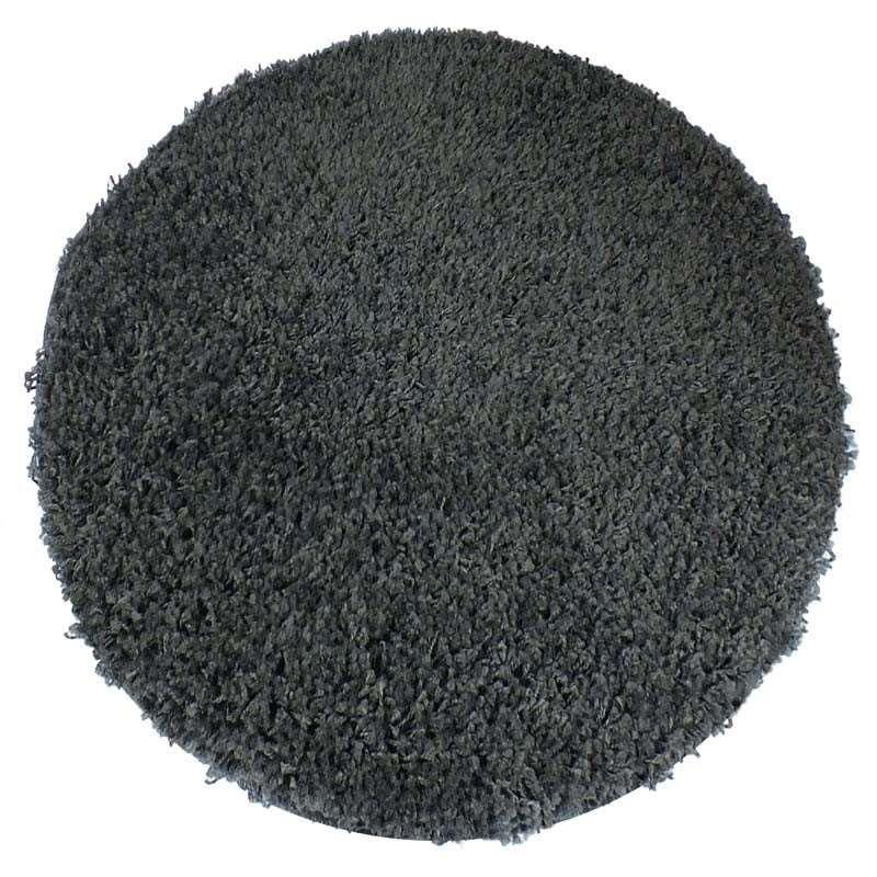 Dywan nowoczesny okrągły shaggy jednokolorowy - antracytowy