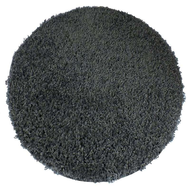 Dywan nowoczesny okrągły shaggy jednokolorowy antracytowy