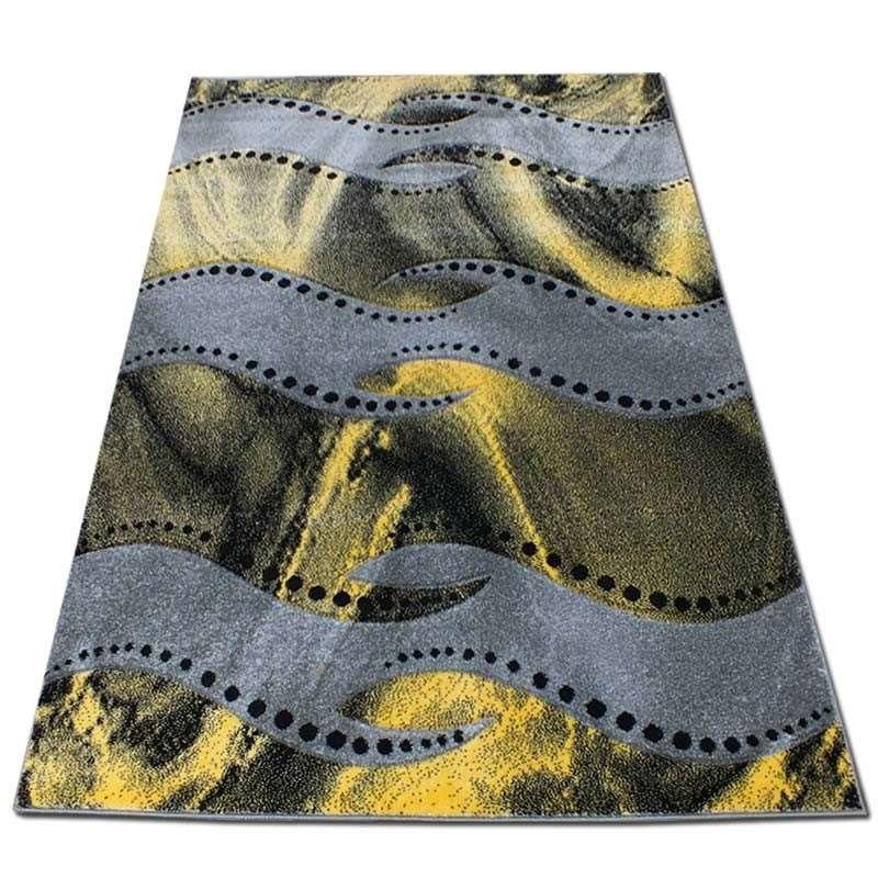 Dywan nowoczesny Fantazja 07S - szaro-żółty