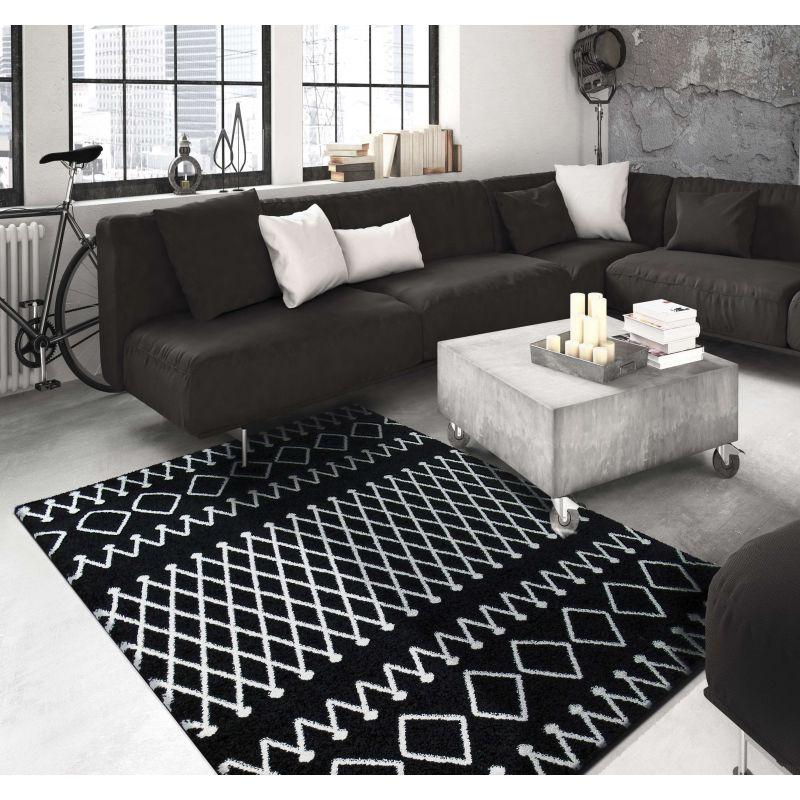 Dywan nowoczesny marokański czarny maroko 03