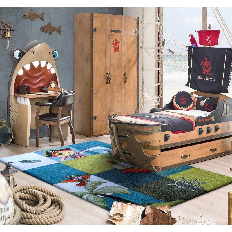 Dywan dla dzieci Mondo 01 Piraci - niebieski