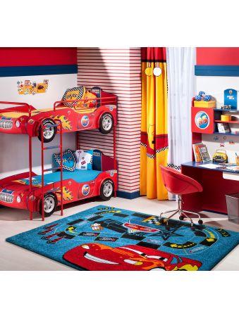 Dywan Mon 06 Samochodzik niebieski