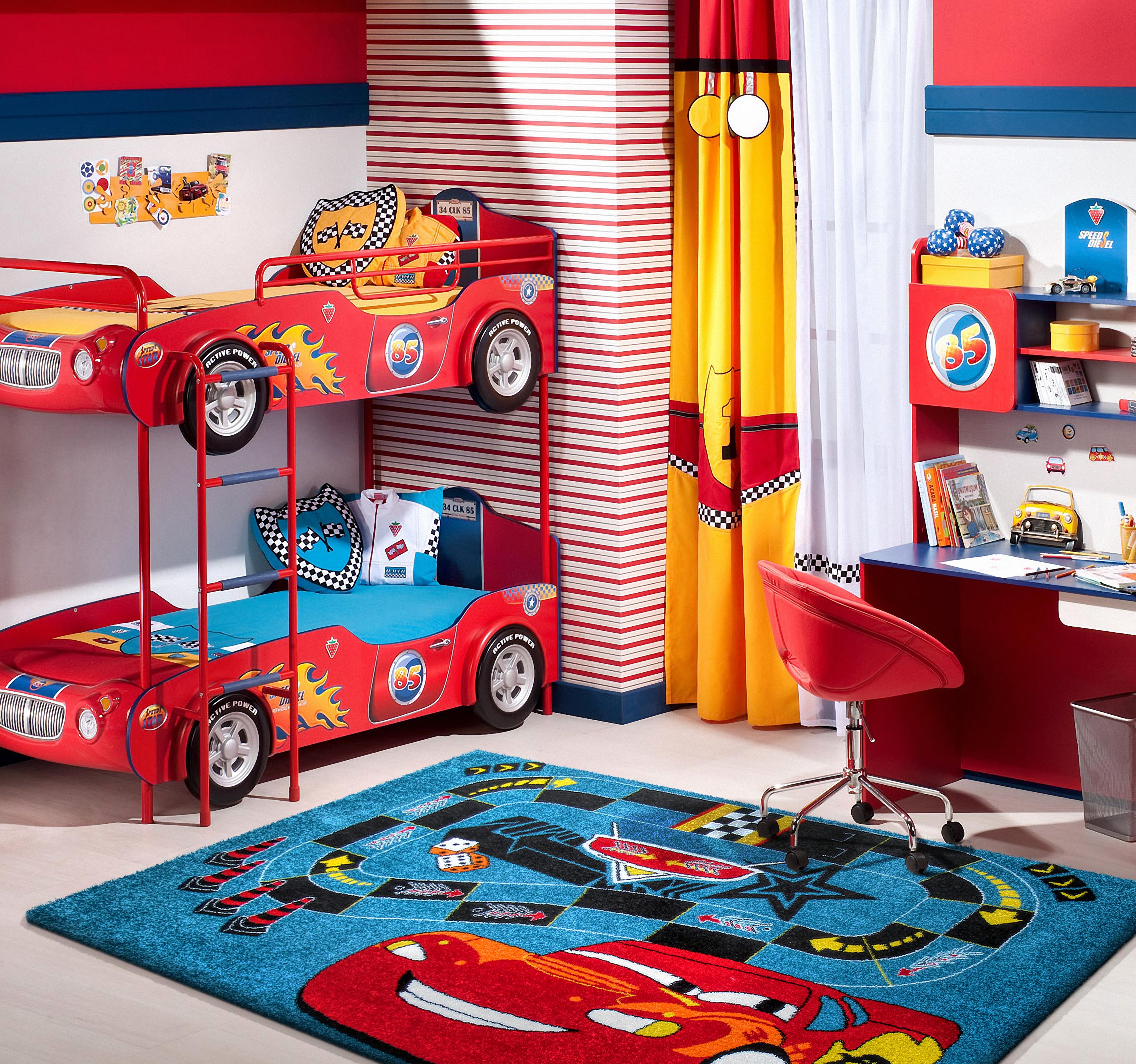Bardzo dobryFantastyczny Dywan dziecięcy z atestem w samochodziki Mondo 06 ET34