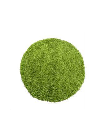 Dywan okrągły shaggy jednolity zielony
