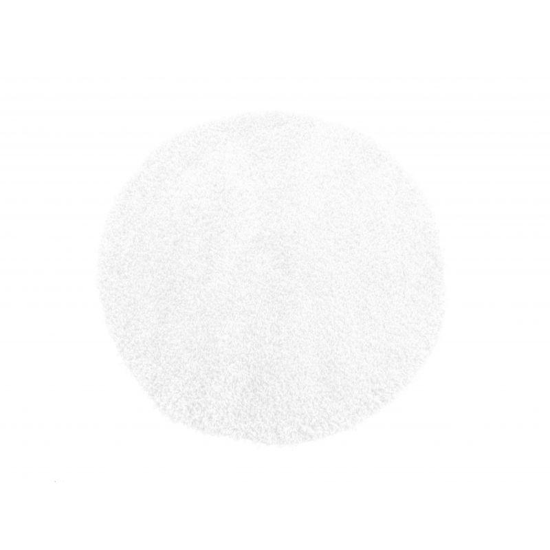 Dywan okrągły shaggy jednolity biały