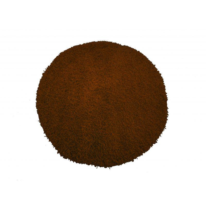 Dywan okrągły shaggy jednolity brązowy