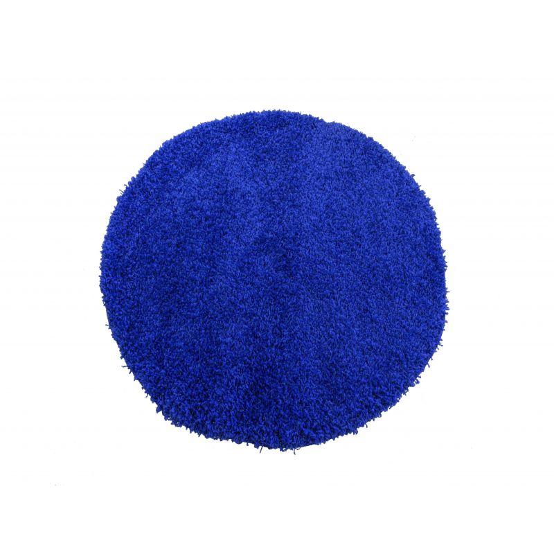 Dywan okrągły shaggy jednolity kobalt