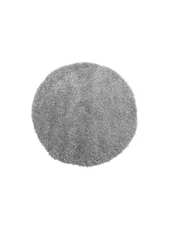 Dywan nowoczesny okrągły shaggy jednokolorowy szary