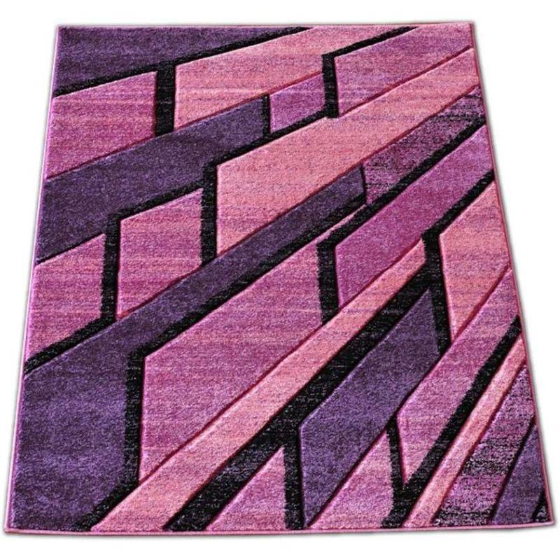 Dywan nowoczesny Fantazja 10S - fioletowy