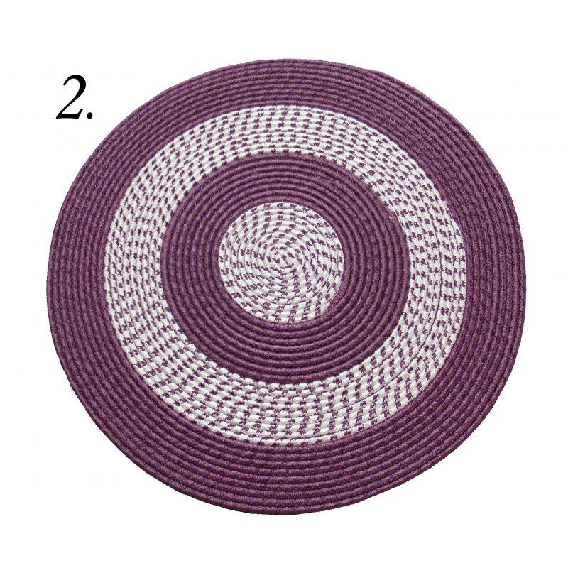 Dywan sznurkowy Maestro koło - fioletowy