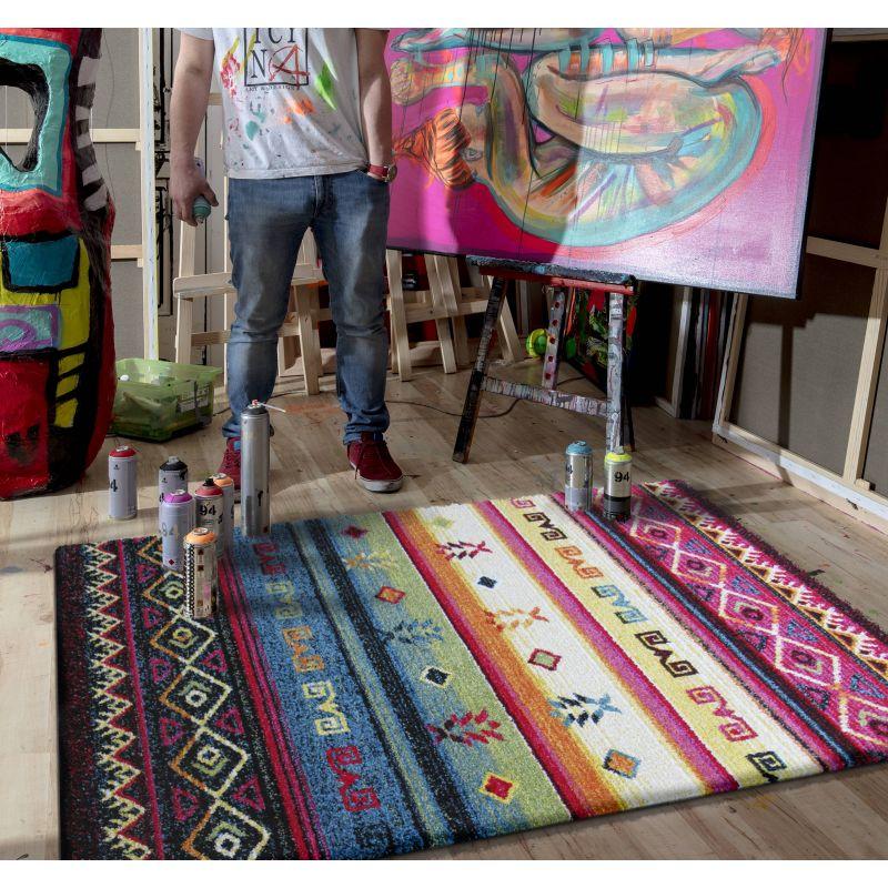 Dywan nowoczesny kolorowy Picasso 01 - Aztek