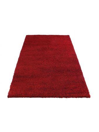 Dywan shaggy jednolity czerwony