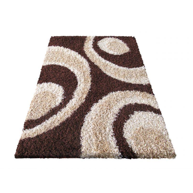 Dywan nowoczesny shaggy 02 brązowy