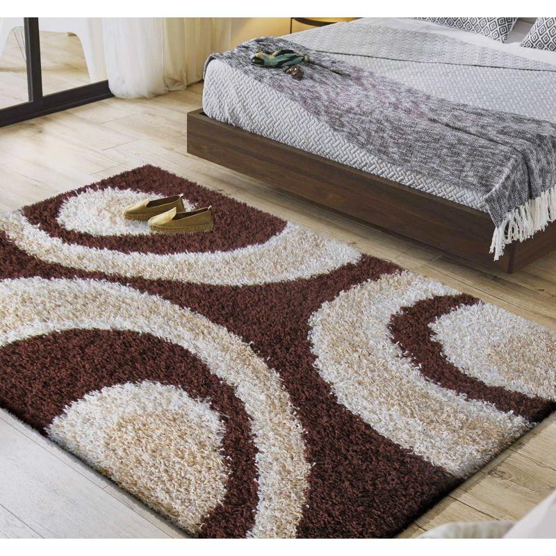 Dywan nowoczesny shaggy 02 - brązowy