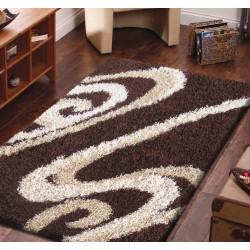 Dywan nowoczesny shaggy 05 - brązowy
