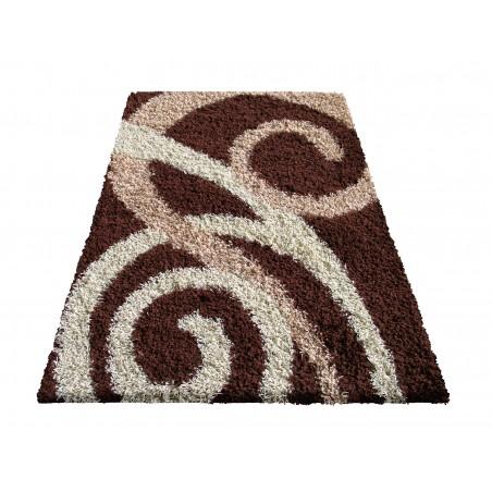 Dywan nowoczesny shaggy 03 brązowy