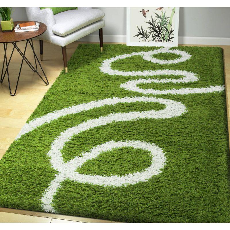 Dywan nowoczesny shaggy 04 zielony