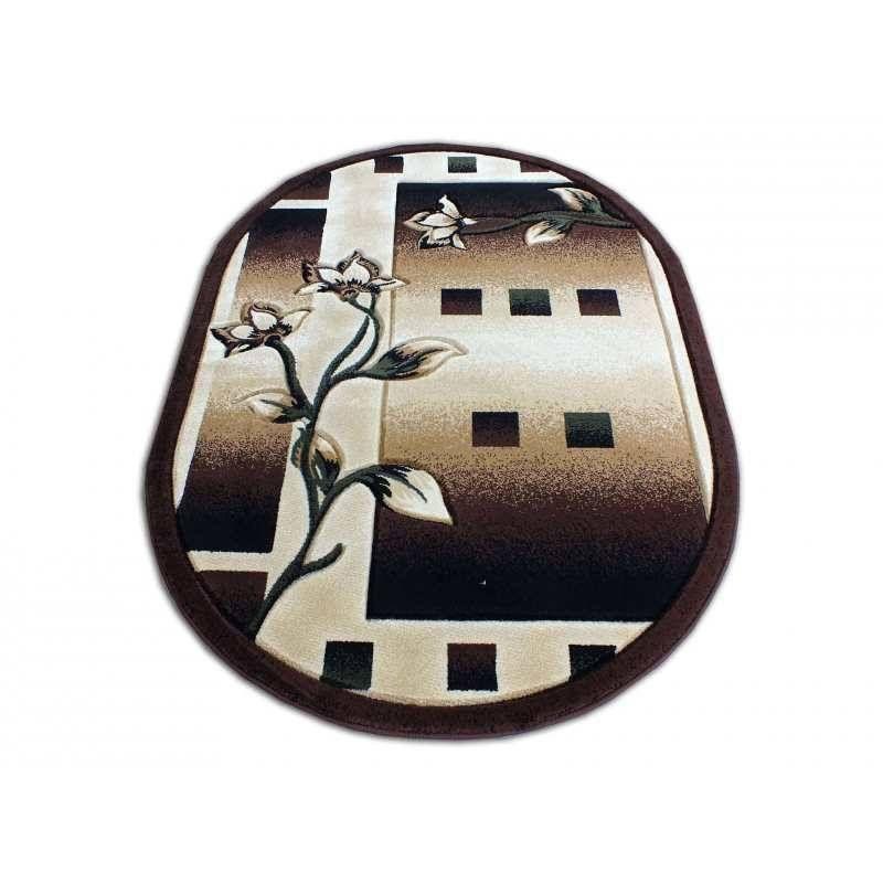 Dywan klasyczny owalny Fenix 05 - brązowy