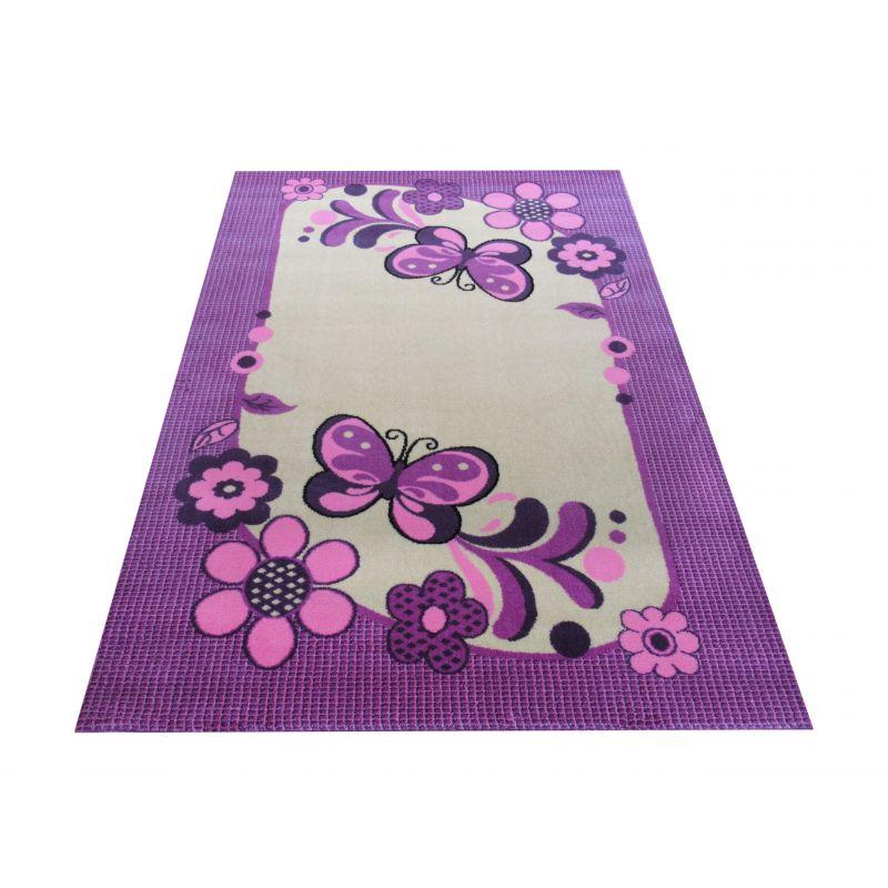 Dywan dla dziecka Smyk 14 - fioletowo-kremowy