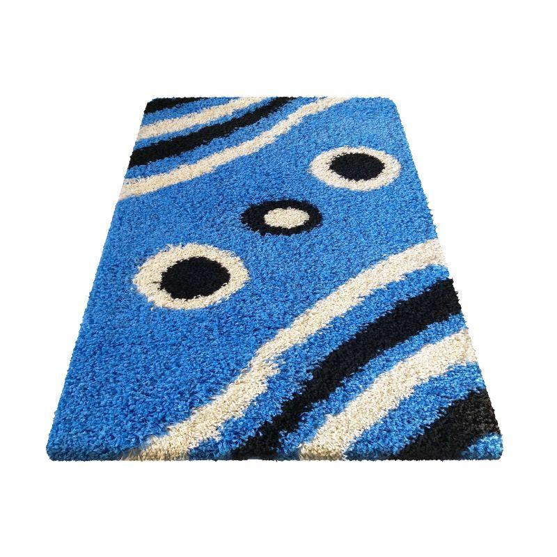 Dywan nowoczesny shaggy 08 - niebieski