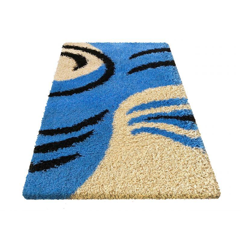 Dywan nowoczesny shaggy 10 niebieski
