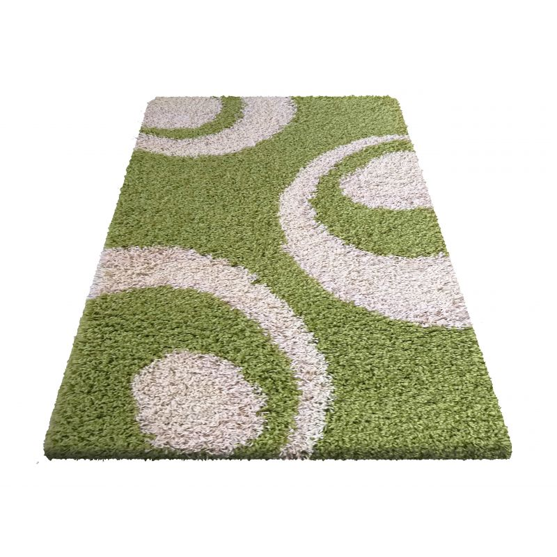 Dywan nowoczesny shaggy 02 zielony