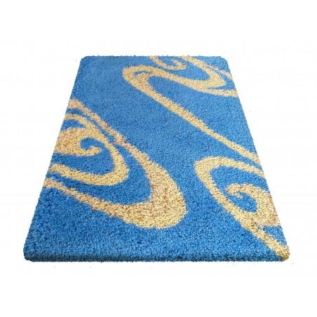 Dywan nowoczesny shaggy 05 niebiesk
