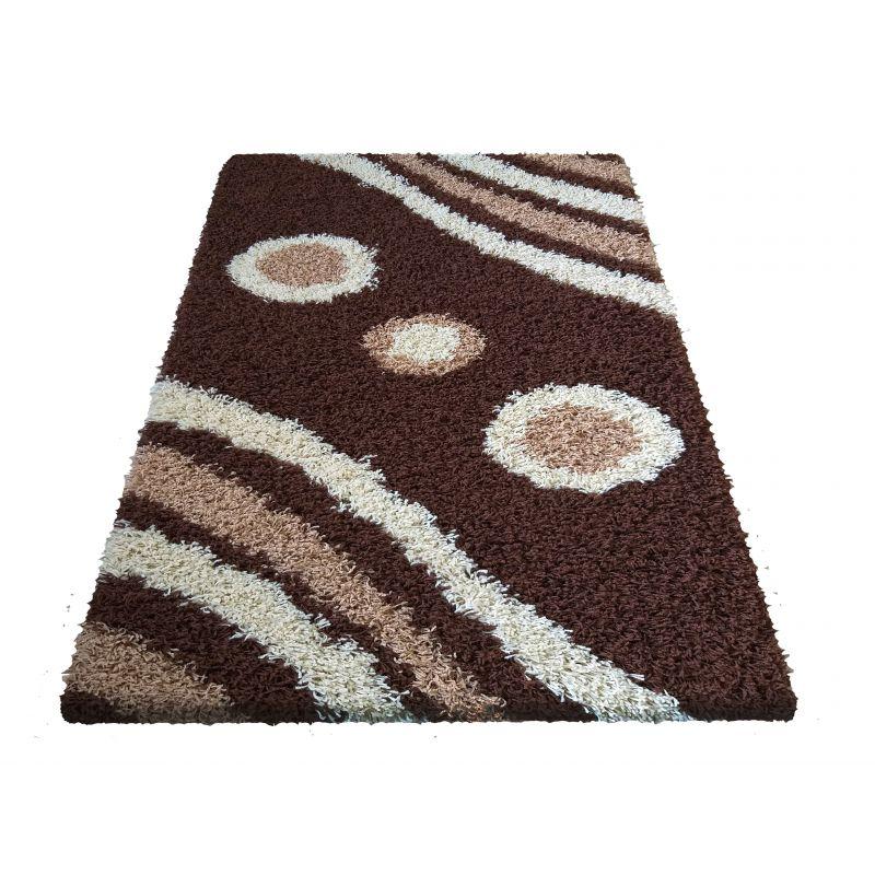Dywan nowoczesny shaggy 08 brązowy