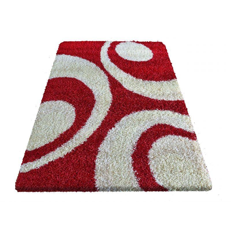 Dywan nowoczesny shaggy 02 czerwony