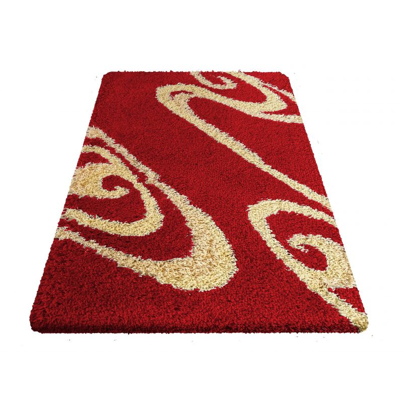 Dywan nowoczesny shaggy 05 - czerwony