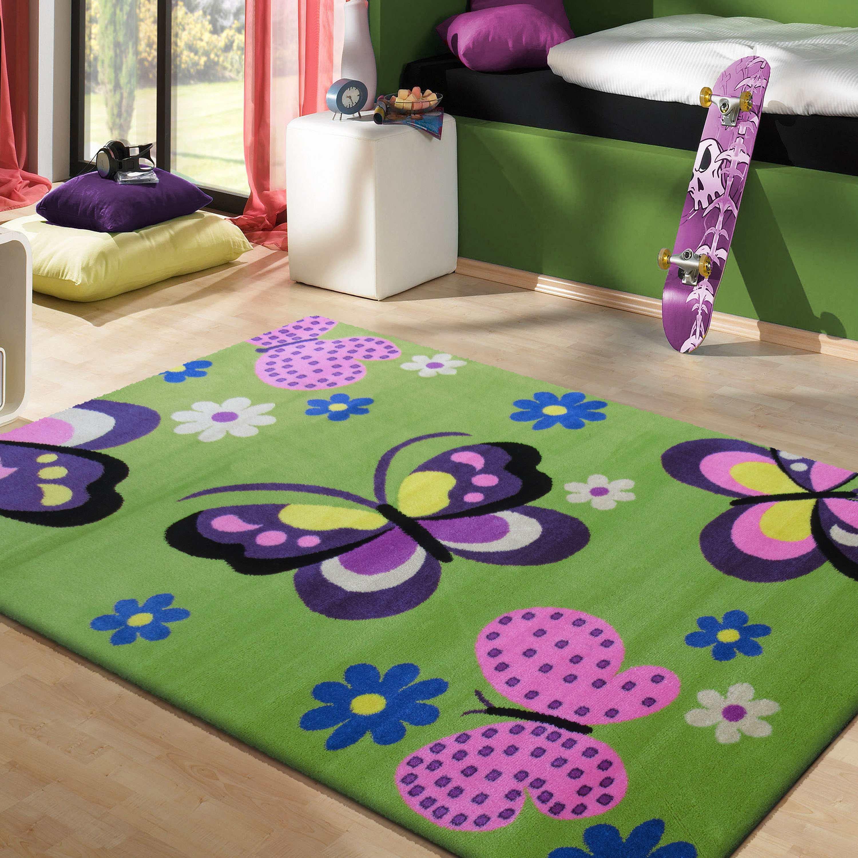 Dywany Dla Dzieci Motyle Kwiatki Smyk 17 Zielony