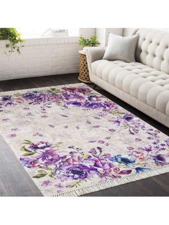 Dywan antypoślizgowy Horeca 03 kwiaty fioletowe