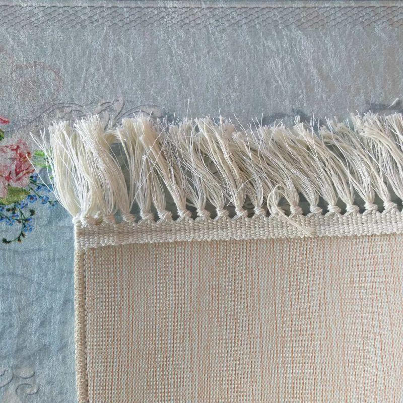 Dywan antypoślizgowy Horeca 05 kwiaty niebieski